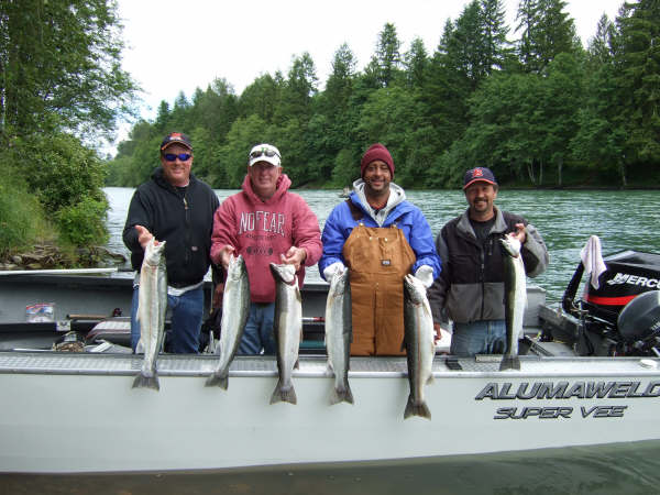 Cowlitz river fishing guides book online here for Lewis river fishing report