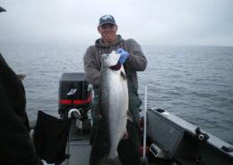 Casey with a nice Columbia River Chinook