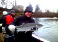 A nice fresh Hatchery Steelhead on the Wynoochee